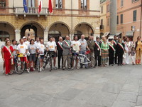 Ravenna, foto di gruppo con i sindaci del comprensorio Bassa Romagna