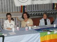 Da sinistra, Mathab Hussein (Parlamento del Kurdistan), Fawzia Al Attia (delegata Ministero degli Esteri iracheno), Elisabetta Baldi Caponnetto.