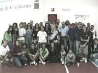 Foto dei volontari con Rita Borsellino
