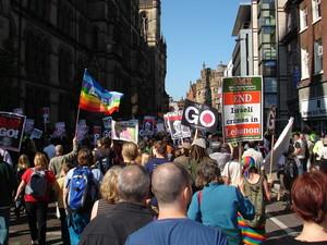 Manchester 23 Settembre 2006 - Stop the war marcia, di protesta contro la politica estera del partito laborista.