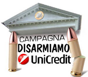logo disarmiamo Unicredit