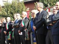 Marzabotto 1 ottobre 2006: Sul palco, al centro il sindaco di Marzabotto Edoardo Masetti. E' presente anche il sindaco di Roma Walter Veltroni.