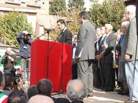 Marzabotto 1 ottobre 2006: al microfono il sindaco di Halabja, Mohammed Khadir Kareem.