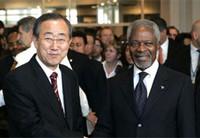 Kofi Annan con il suo successore