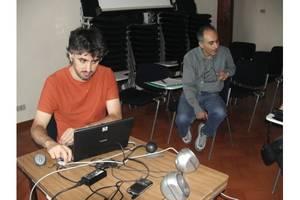 Sessione di lavoro: Francesco Iannuzzelli alle tastiere...