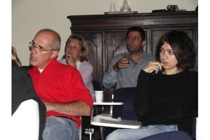 Sempre gli studenti a lezione... a destra Francesca Borri, nuova arrivata fiorentina. In fondo, Elisabetta Caravati e Livio Mascellari.