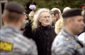 La manifestazione a Mosca (Foto: Novaya Gazeta)