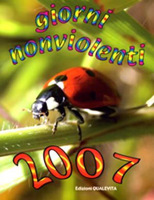 """Copertina Agenda """"Giorni Nonviolenti"""" 2007"""