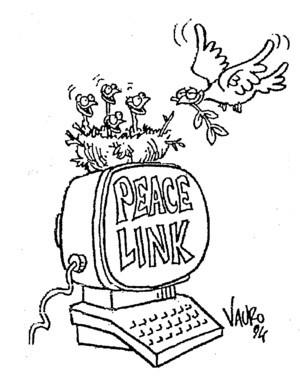 Vignetta di Vauro per PeaceLink