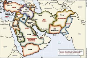 Mappa del Nuovo Medio Oriente