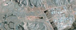 Veduta satellitare del complesso di Isfahan. In questo sito lo «yellow-cake» viene convertito in esafluoruro di uranio, UF6