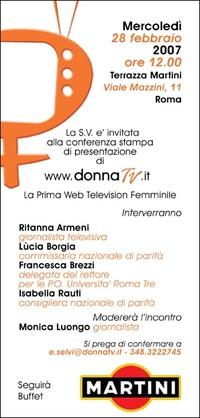 È nata Donna TV, la prima web television italiana al femminile