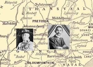 Gandhi e Baden-Powell nel Transvaal in Sudafrica nel 1899