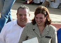 Arnoldo Alemán con la moglie