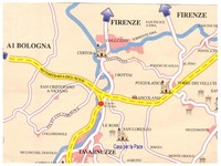 Mappa dintorni Casa per la Pace