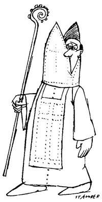 Disegno vescovo impaurito