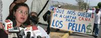 """Georgina Muñoz della Coordinadora Civil e la protesta dei """"cañeros"""""""