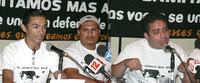 Salomón López, Luis López e Oscar Santos invitano a non tacere più