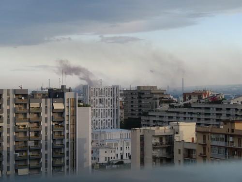 Foto dell'ILVA di Taranto scattata alle 7 del mattino, 18 maggio 2007