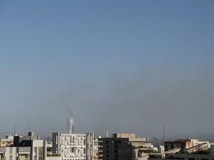 Foto dell'ILVA di Taranto scattata alle 7 e 30 del mattino, 28 maggio 2007