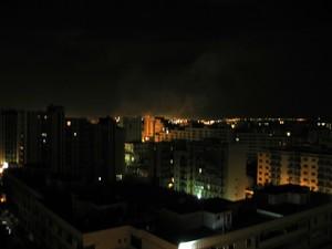 Foto dell'ILVA di Taranto scattata dopo mezzanotte, 28 maggio 2007