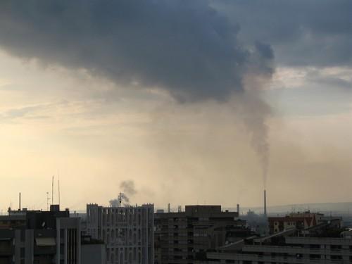 Foto dell'ILVA di Taranto scattata alle 19, 5 giugno 2007