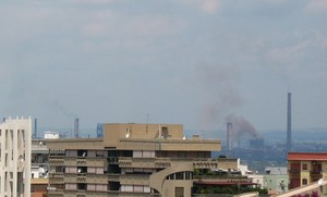 Foto dell'ILVA di Taranto scattata alle 11 e 45, 9 giugno 2007