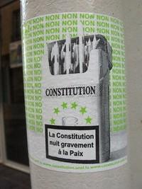 La costituzione nuoce gravemente alla pace