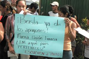 Protesta contro Unión Fenosa