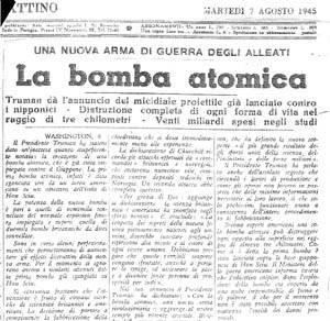 La Nazione, 7 agosto 1945