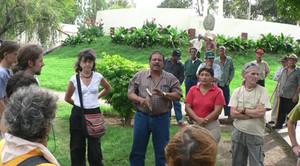 Victorino Espinales con esponenti della Ass. Italia-Nicaragua