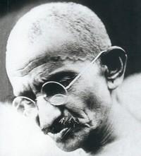 Ritratto di M.K. Gandhi