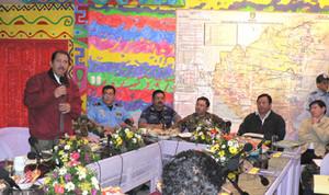 Momenti della conferenza stampa