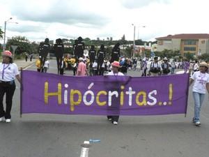 Manifestazione contro la penalizzazione dell'aborto terapeutico