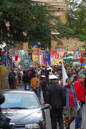 Foto della Marcia Perugia-Assisi 2007 - il corteo si muove