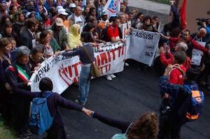 Foto della Marcia Perugia-Assisi 2007 - striscione di testa