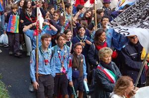Foto della Marcia Perugia-Assisi 2007 - scout