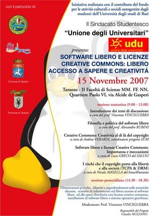 Manifesto affisso a Taranto